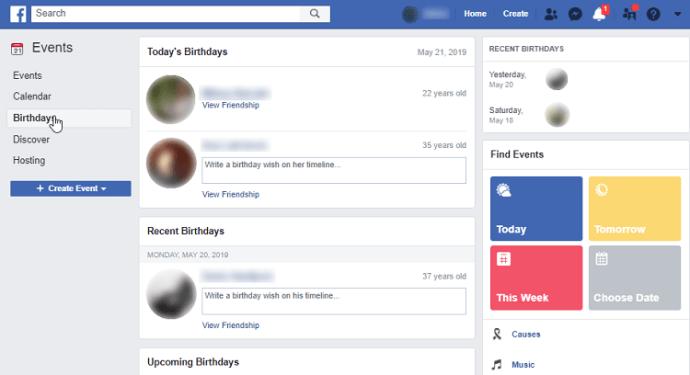 Comment voir les anniversaires d'amis sur Facebook