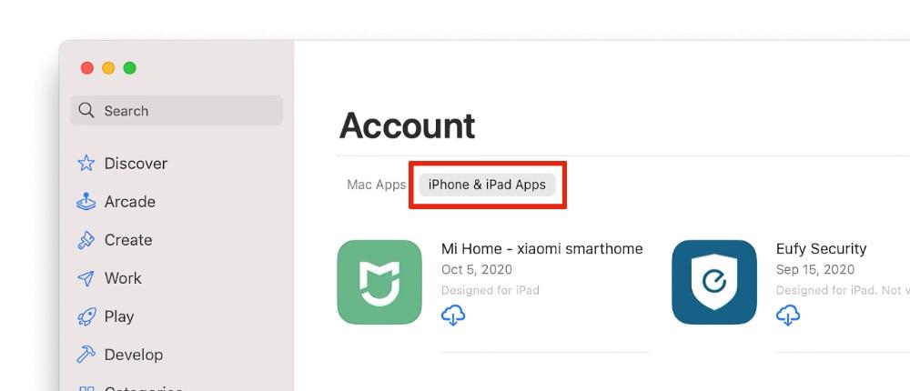 Installez des applications iPhone et iPad sur M1 Mac