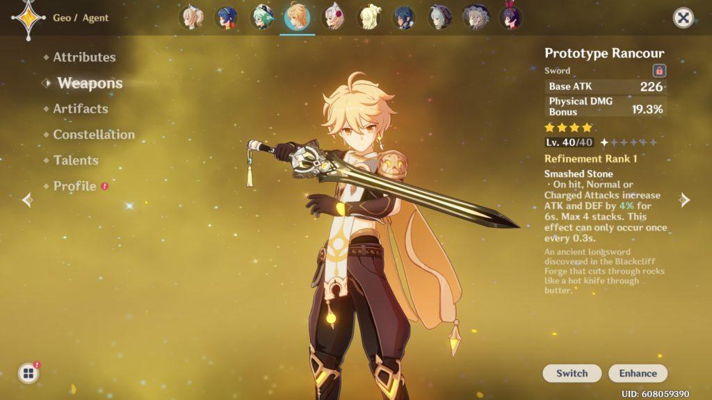 Genshin Impact weapons