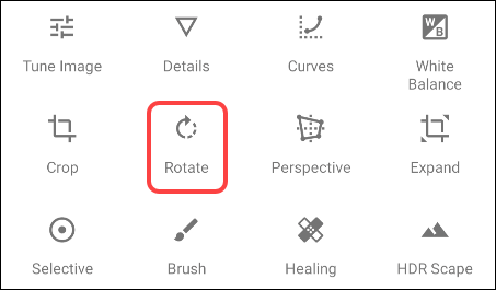 Choose the rotation tool