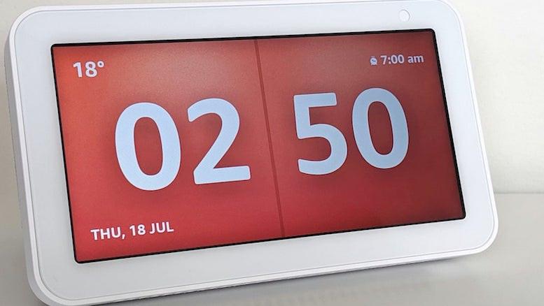 echo show clock