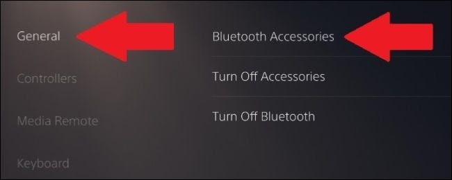 From the Accessories option, go to the General section.
