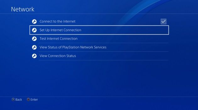 Set connection status on PS4