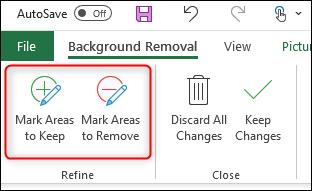 Supprimer l'arrière-plan manuellement Excel