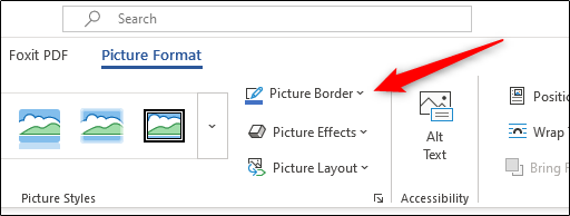 add borders to my photos in Word