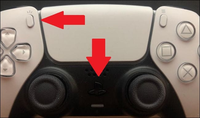 Press the PS5 button and create