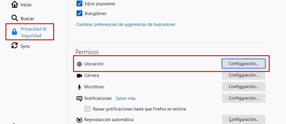 Enter privacy and security in Firefox