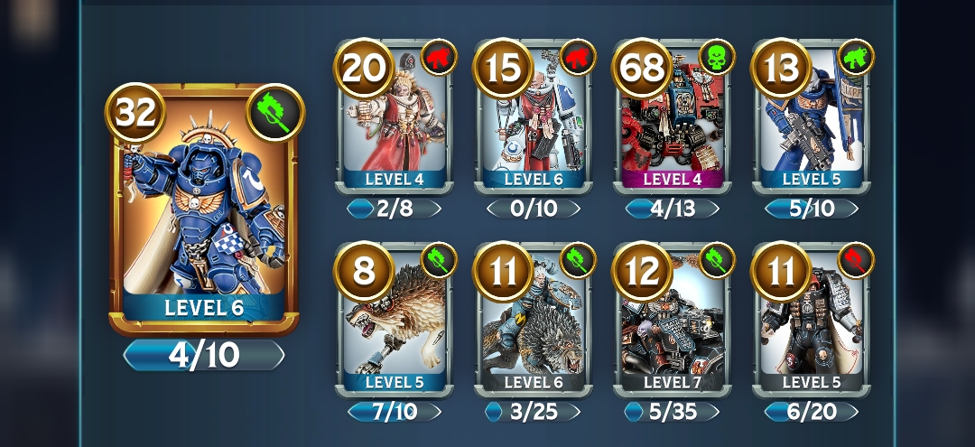 Warhammer Deck Acheran Battle Cards