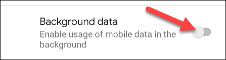 Mobile data in the background.