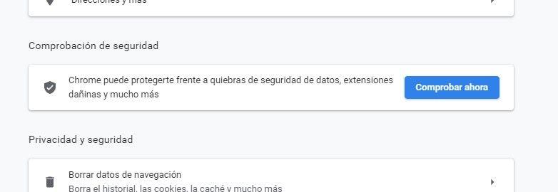 Vérification de la sécurité de Chrome.