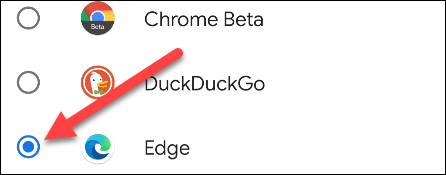 We select Microsoft Edge as our default browser.