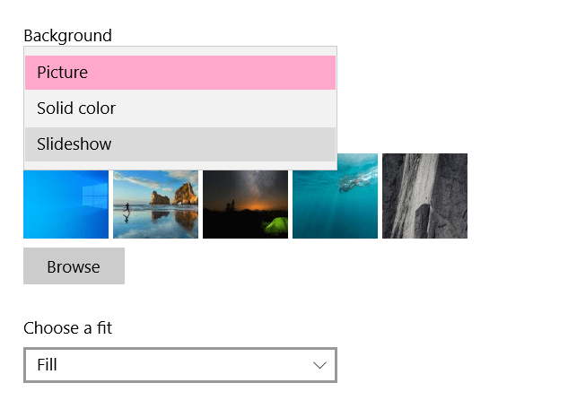 How to enable slideshow as background in Windows 10
