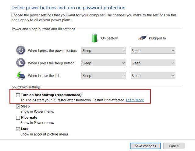 Nous permettons le démarrage rapide de Windows.