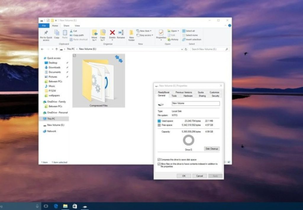 enable NTFS 2 file compression