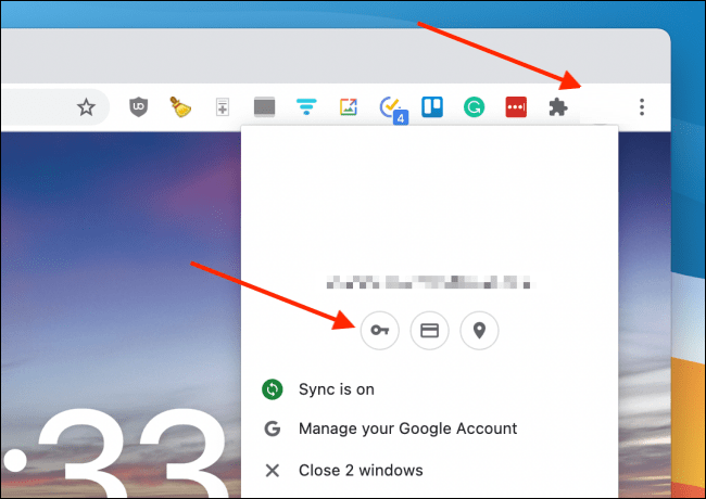 Log into my profile in Chrome to export passwords.