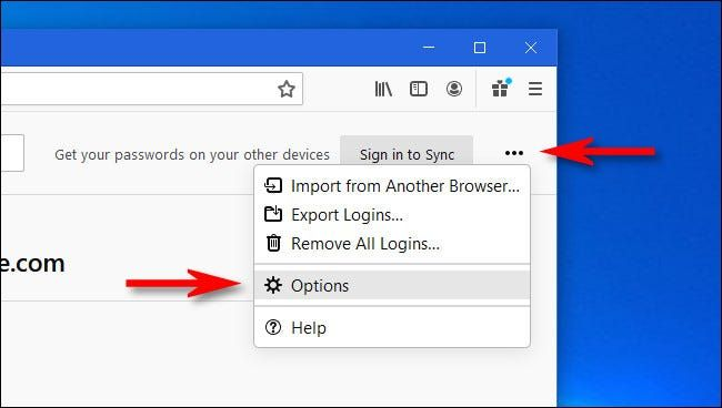 How to set the Firefox master password