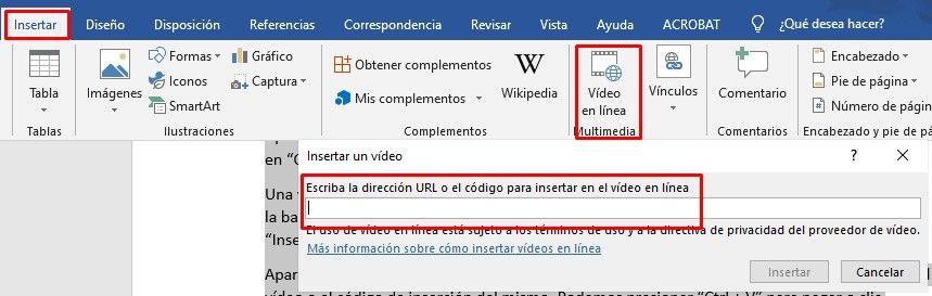 Comment mettre une vidéo YouTube dans Word.