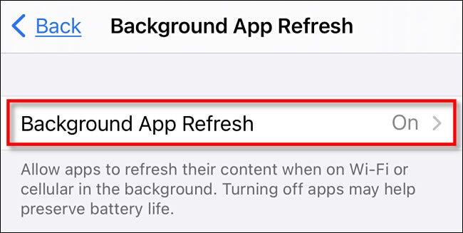 Nous pouvons désactiver les mises à jour en arrière-plan pour toutes les applications à la fois.