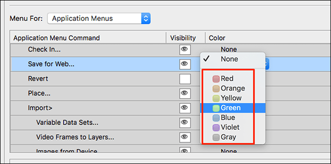 Assign custom colors.
