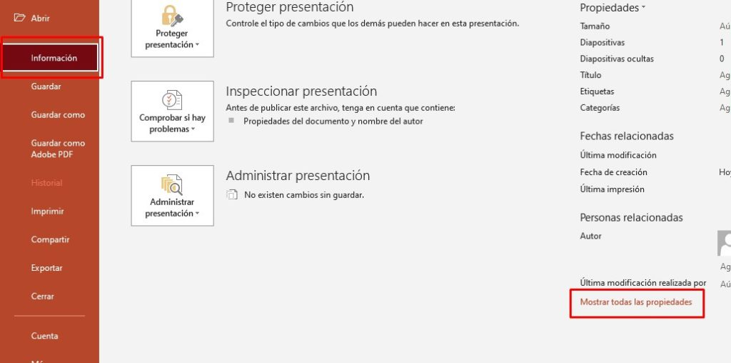 Find out the word count in a PowerPoint document.