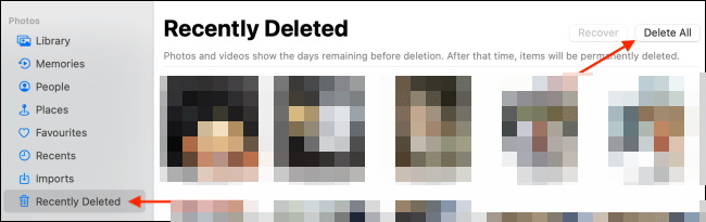 We permanently delete all photos.