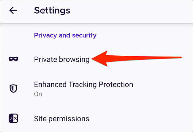 Firefox private browsing.