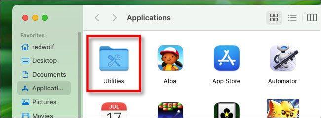 We click on utilities.