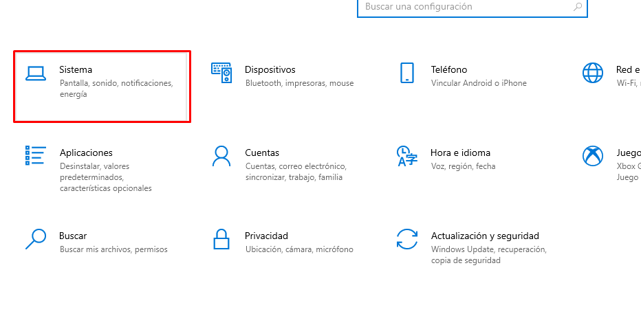 System in Windows settings.