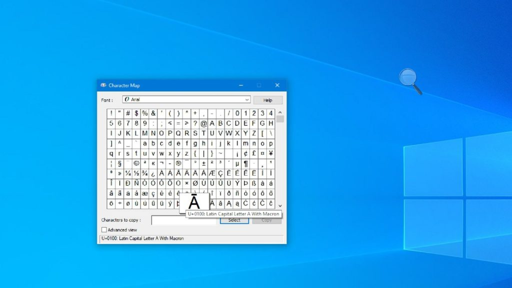 write special characters Windows 2
