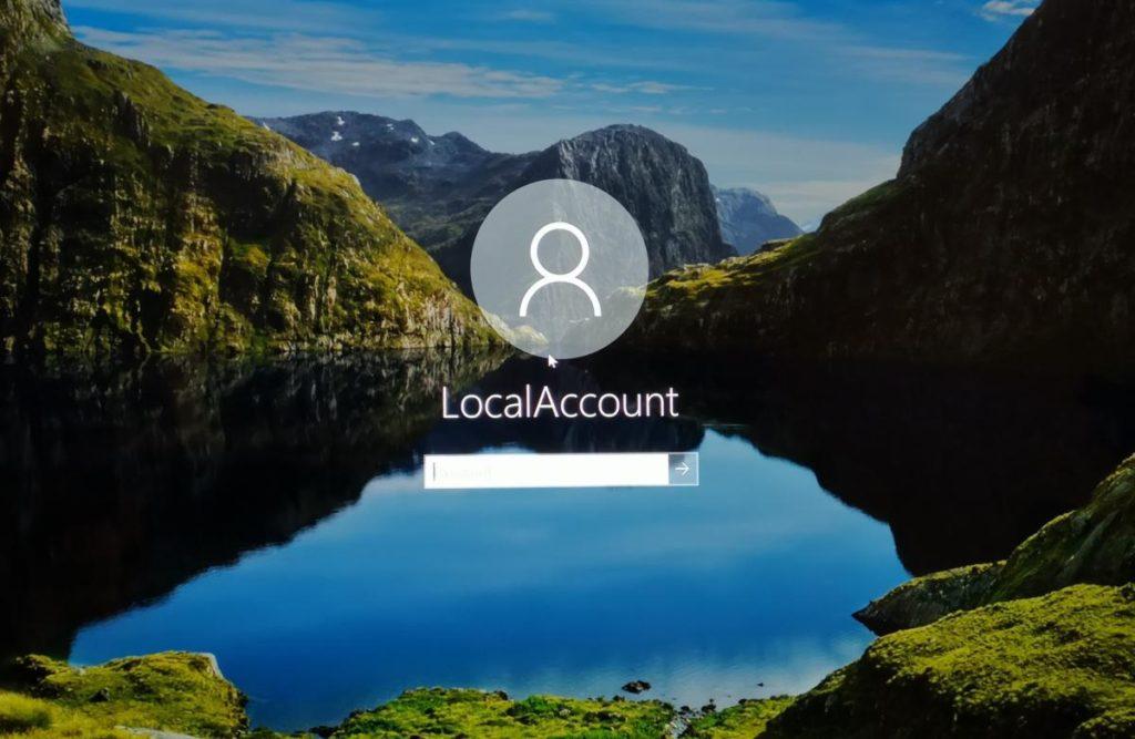 Microsoft local account 2