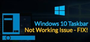 Windows-10-Not-Running taskbar
