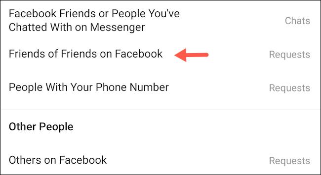 Amis d'amis sur Facebook.