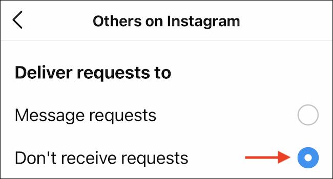 De cette façon, nous pouvons désactiver les demandes de messages sur Instagram.