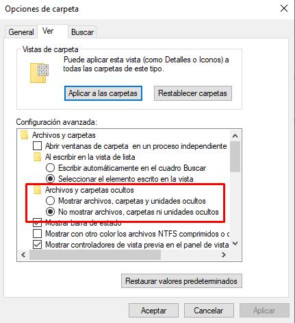 Masquer les icônes du bureau Windows 10.