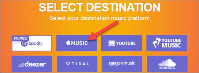 Nous avons choisi Apple Music.