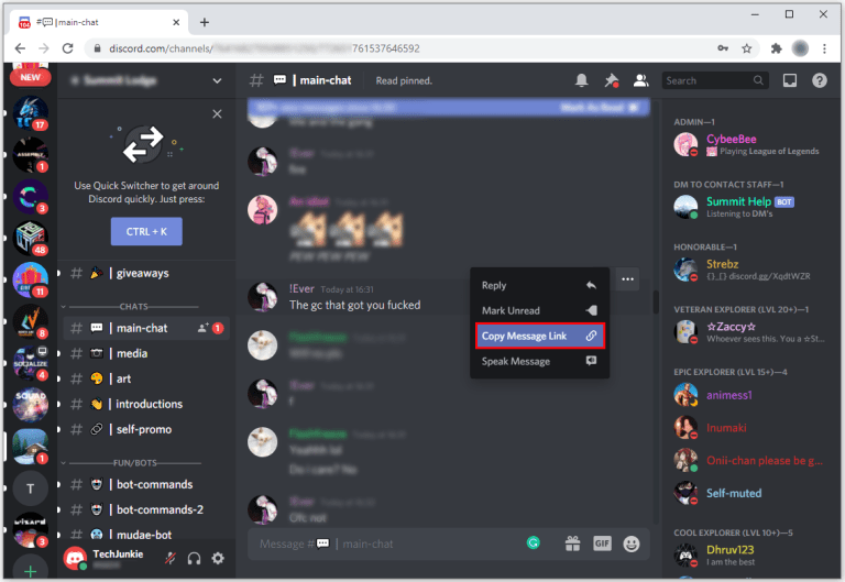 This way we can flag or report a Discord user.