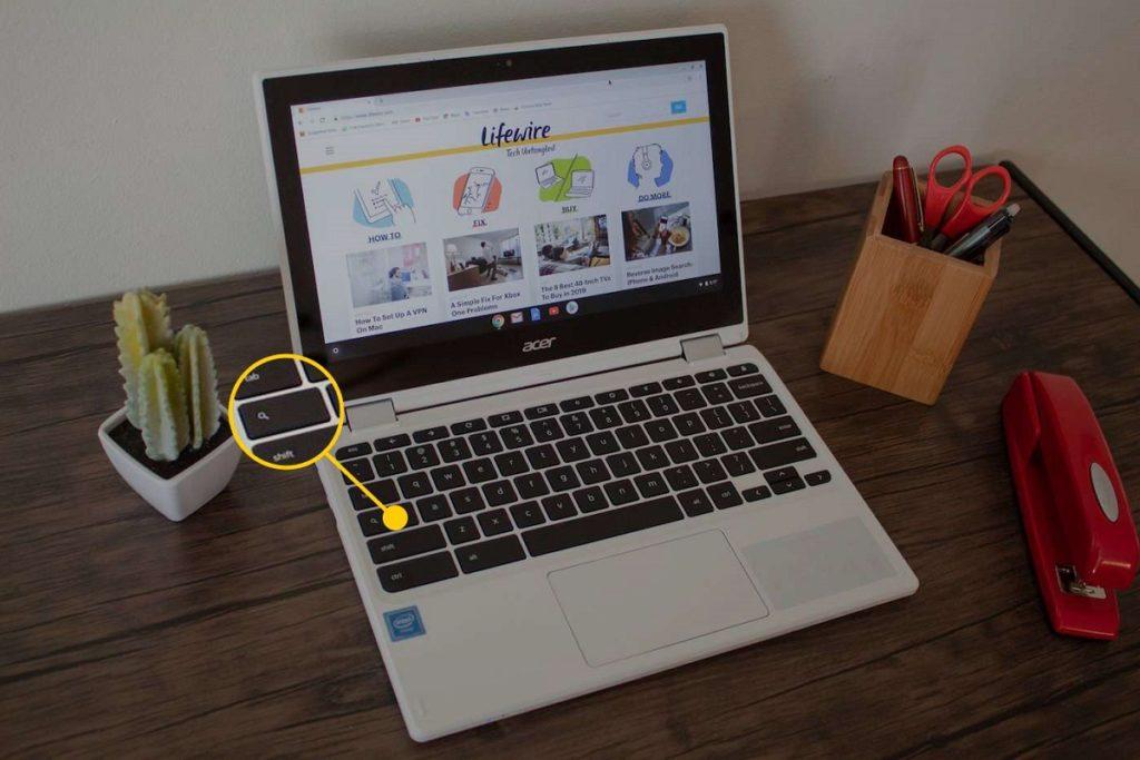 Touche de verrouillage des majuscules Chromebook 2