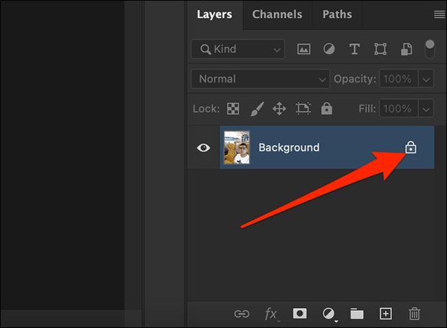 Remove the layer lock.