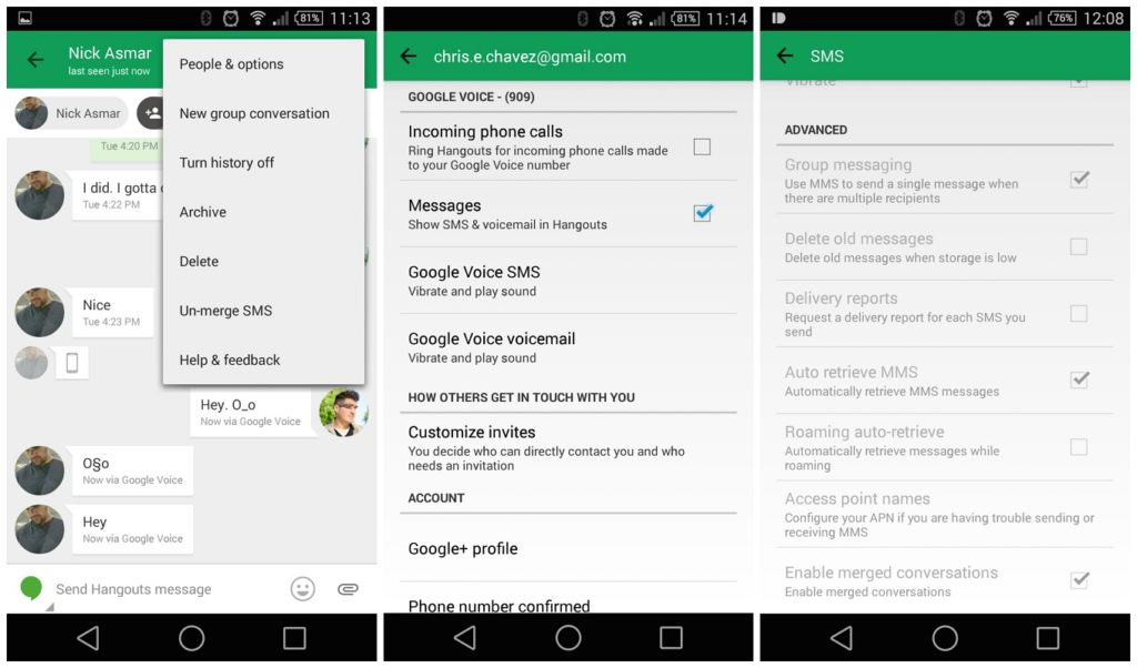 automatically delete SMS Android 1.5