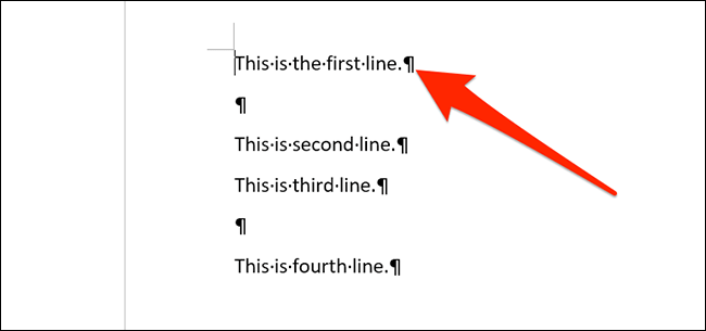 Paragraph break icon in Word.