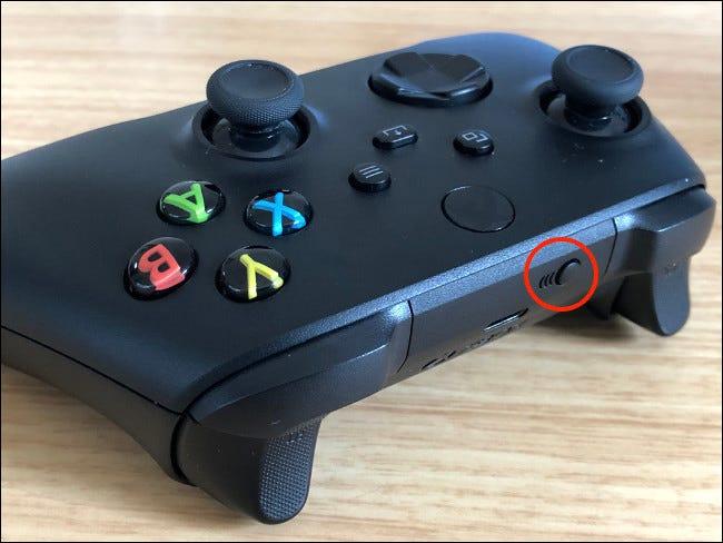 Controller pairing button.