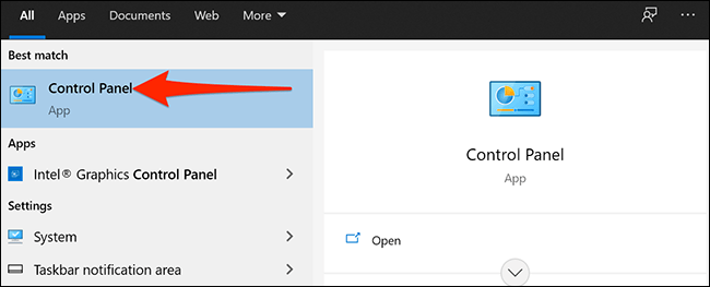 We access the control panel to be able to create direct access to a VPN on the Windows desktop.