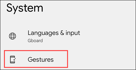 Gesture menu.
