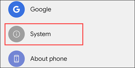 System on Android.