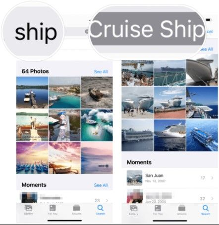 How to find objects in iOS photos.