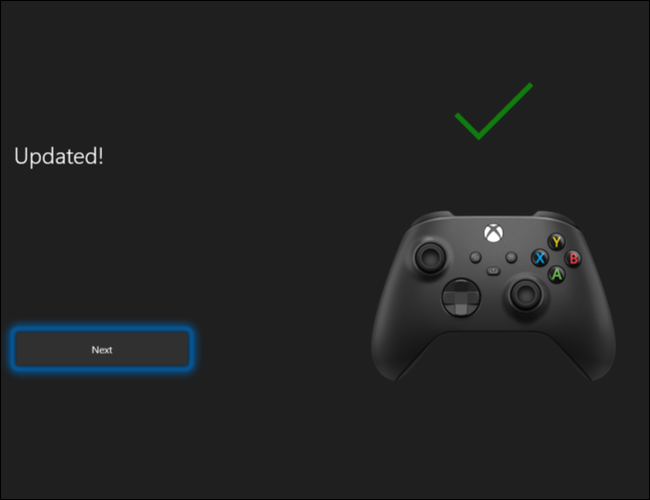 Firmware installed.  In this way, we have successfully updated the Xbox Wireless Controller