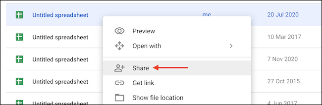 Right click and share the file.