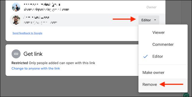 Remove file sharing permissions.