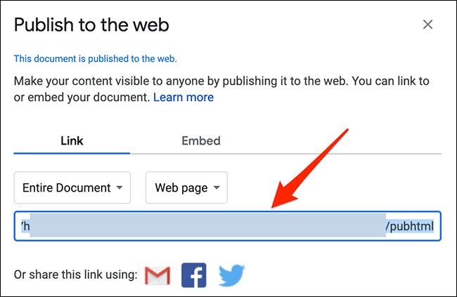 Voici comment nous pouvons ouvrir les liens Google Sheets