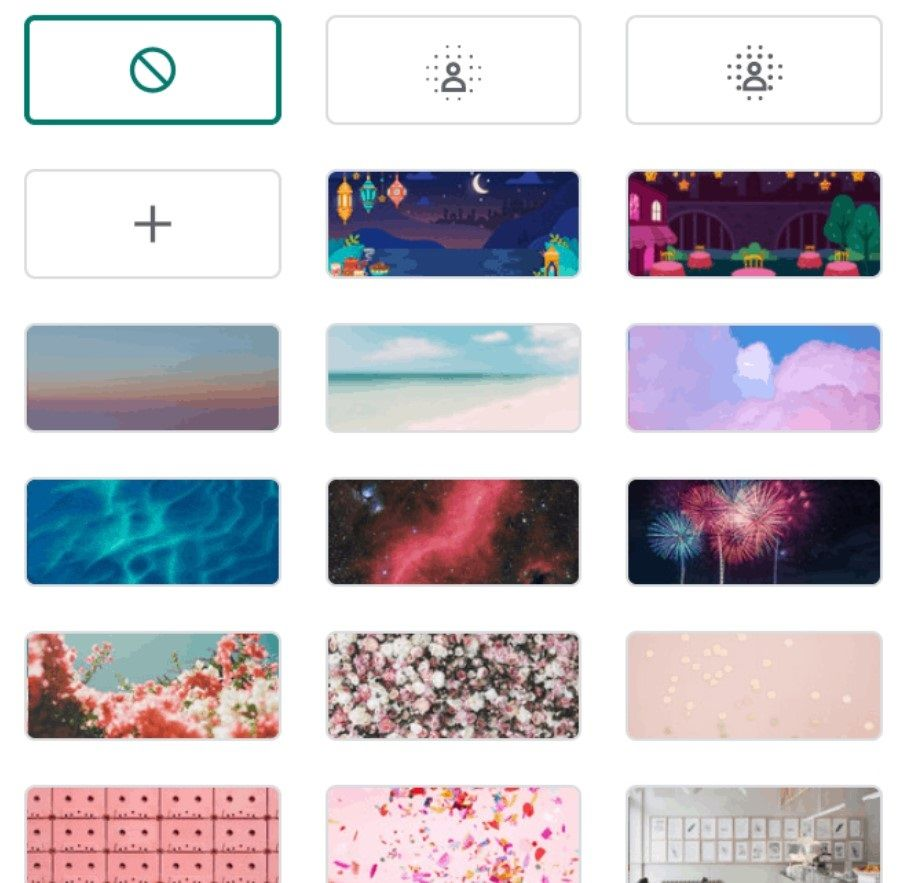 Choose from the default backgrounds or download a custom one.